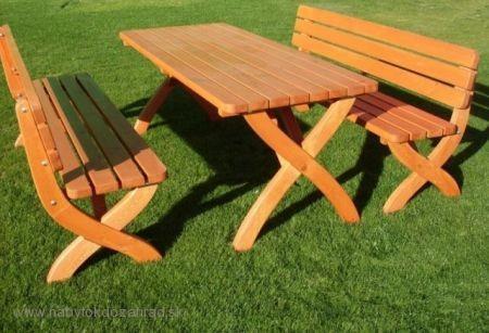 0e7c17d6a436 Záhradný stôl drevený STRONG 180 cm masív