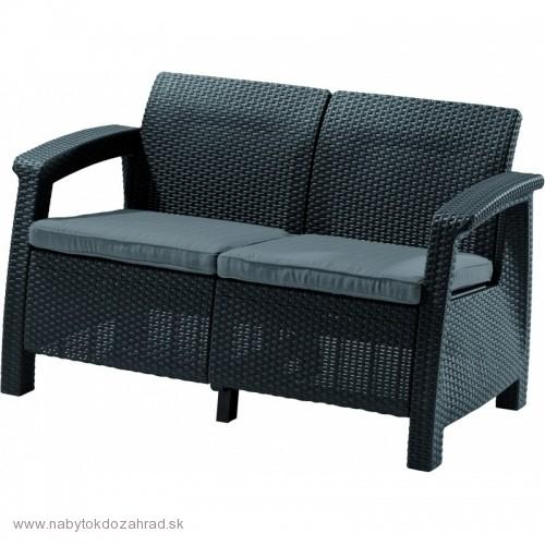 CORFU LOVE SEAT antracit