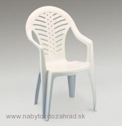 a065baba8118 Zahradná plastová stolička OCEÁN biela vysoká