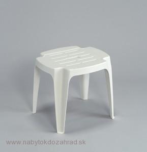 123d8329ff80 Zahradná plastová stolička CALIPSO biela